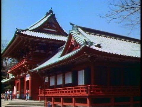KAMAKURA, JAPAN, 1982, Shinto Shrine in Kamakura outside of Tokyo