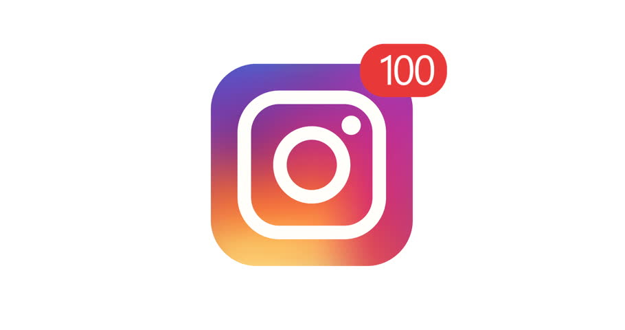 Samara, Russian Federation - August 3, 2018: Editorial animation. Instagram logo icon with counter likes, followers. Instagram most popular social network for the placement of photos and video content | Shutterstock HD Video #1014514250