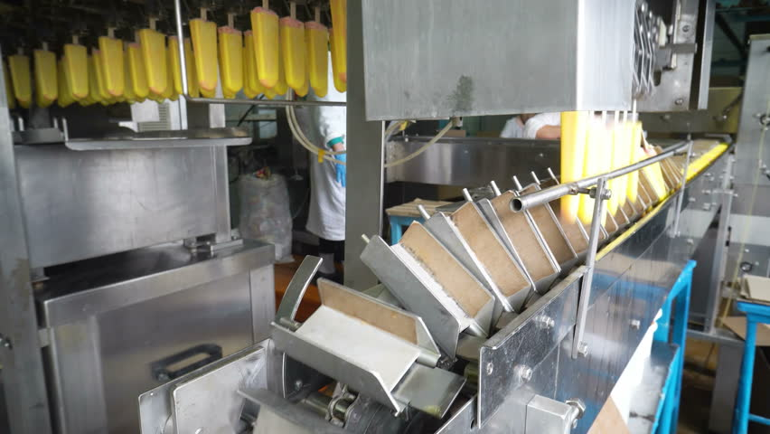 The conveyor automatic lines for the production of ice cream | Shutterstock HD Video #1014524210