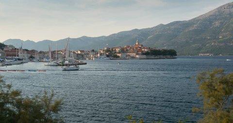 View over Korcula, Korcula Island, Dalmatia, Croatia, Europe