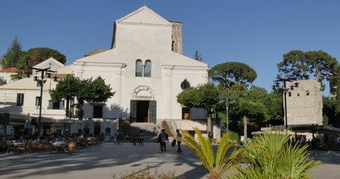 Piazza Duomo and Ravello Duomo, Ravello, Costiera Amalfitana (Amalfi Coast), UNESCO World Heritage Site, Campania, Italy, Europe