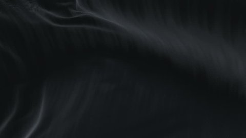 4k seamless Wave black satin fabric Background.Silk cloth fluttering in the wind.tenderness and airiness.3D digital animation of a waving cloth. cg_06391_4k