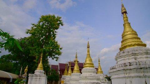 4K video of Chedi Sao Lang temple, Thailand.