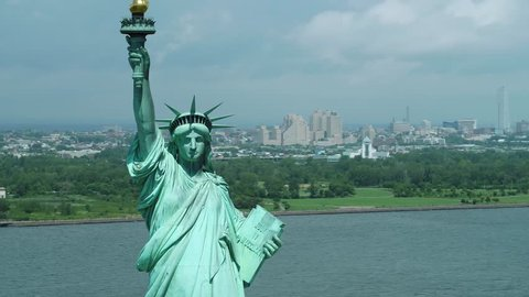 The Statue of Liberty New York motion footage