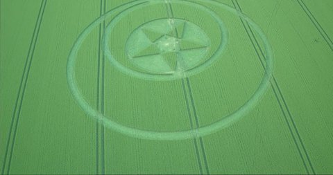 Crop circle in Wiltshire, UK