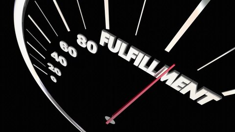 Fulfillment Product Service Speedometer 3d Animation