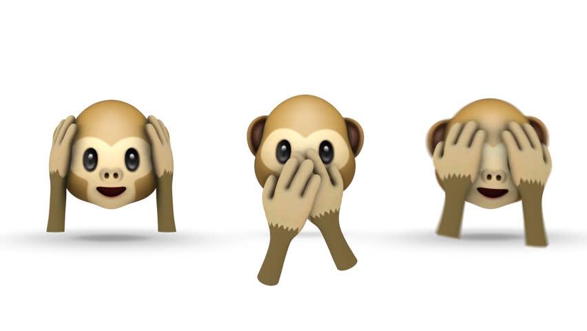 KRISTIANSTAD, SWEDEN - AUGUEST 01, 2018: Monkey Emoji Pack ( 10 of 18) 4 emojis animated and rendered MOV alpha channel