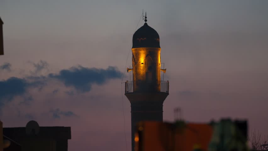 Night Ulu Mosque in Mardin