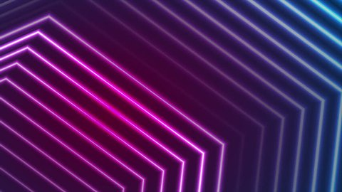Blue and ultraviolet neon laser beam glowing lines abstract motion background. Video animation Ultra HD 4K 3840x2160