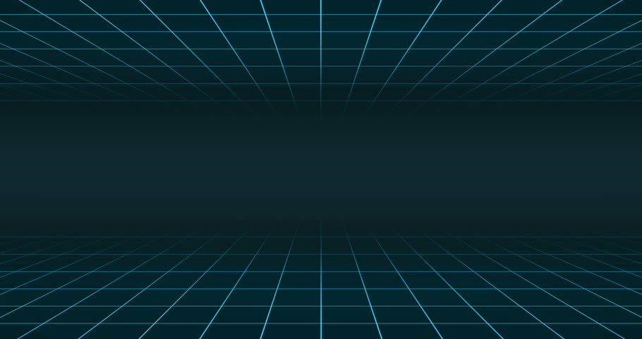 Double blue neon grid on blue background 4k loop 80s animation | Shutterstock HD Video #1014989830