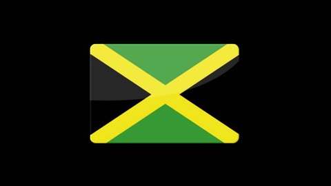 Flag of Jamaica Beautiful 3d animation of Jamaica flag in loop mode.Jamaica flag animation