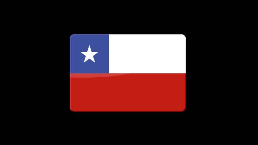 Flag of Chile Beautiful 3d animation of Chile flag in loop mode.Chile flag animation