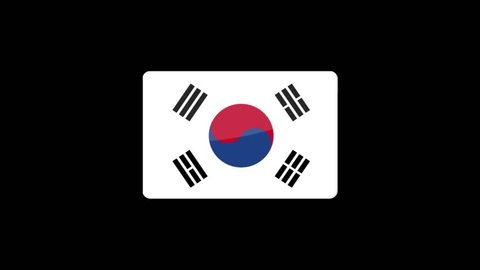 South Korea Flag Wallpaper Stock Video Footage 4k And Hd Video