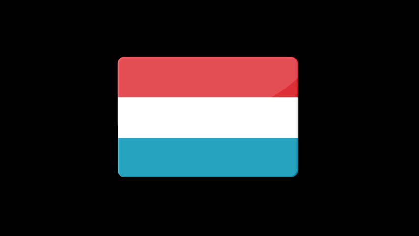 Flag of Luxembourg Beautiful 3d animation of Luxembourg flag in loop mode.Luxembourg flag animation