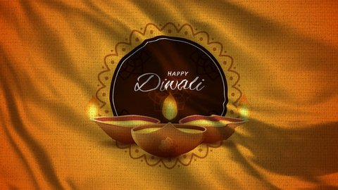 Happy Diwali Flag Loop 004 - 4K Diwali Festival Footage -  Diwali Background Colorful
