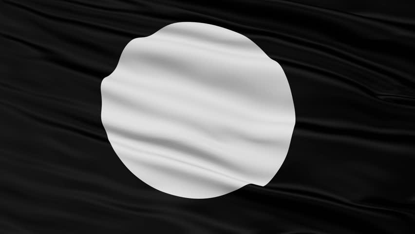 Tnsm Flag, Closeup View Realistic Animation Seamless Loop - 10 Seconds Long