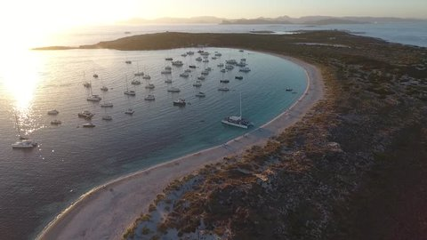 Drone footage of the beautiful island of San Espalmador, Formentera.