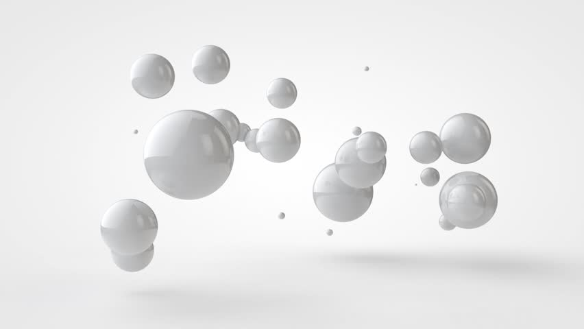 3D animation of flying and connecting white balls. | Shutterstock HD Video #1015177420