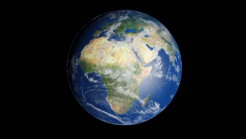 Realistic world map wraps to globe loop on black world map an image of the earth from space hd stock video clip gumiabroncs Image collections