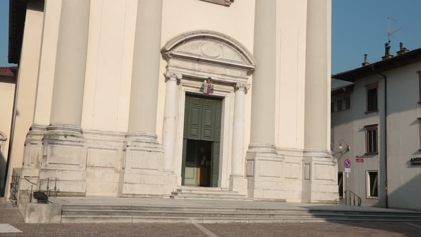 christian church in the northern Italy. Cathedral of Tolmezzo (town and comune in the province of Udine, part of the autonomus Friuli-Venezia Giulia region)
