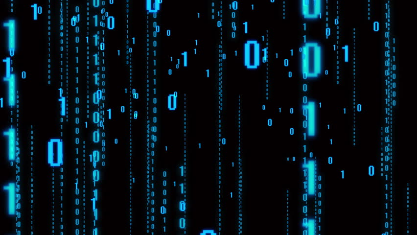 4k The Matrix style binary code,The camera moves through the falling numbers.abstract future tech background.blue version.data digital display. cg_05109_4k | Shutterstock HD Video #1015378690