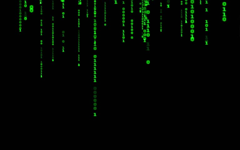Digital binary data, streaming code background. Matrix background. Programming / Coding / Hacker concept. Cyberspace with green digital falling lines, abstract background, binary chain. Crypto space. | Shutterstock HD Video #1015388410