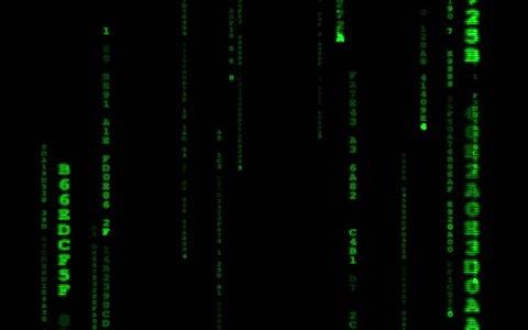 4k the Matrix Style Binary Vidéos de stock (100 % libres de droit