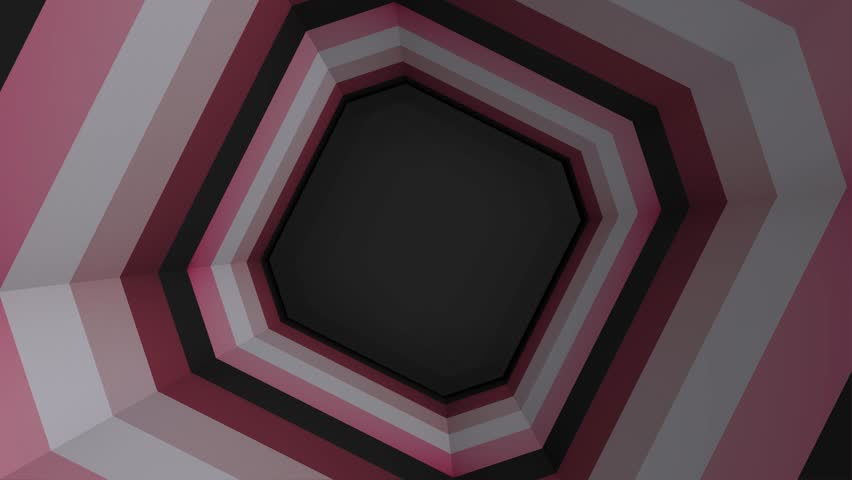 Beautiful Abstract Square Tunnel. Colored square tunnel   Shutterstock HD Video #1015421890