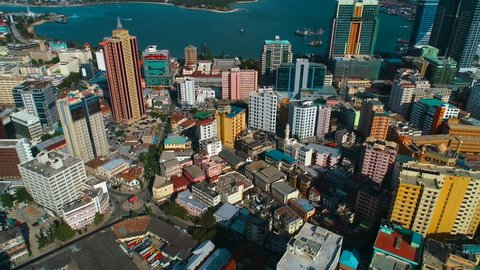 aerial view of Dar city, Tanzania