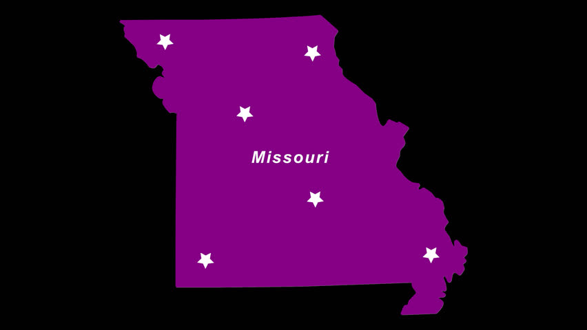 Purple State Map.4k00 07missouri As Purple State Election Map Animated Alpha Chan