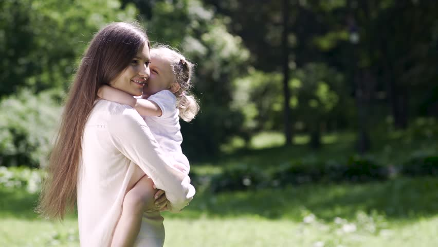 Mother And Daughter Spending Leisure Together In Nature | Shutterstock HD Video #1015507120
