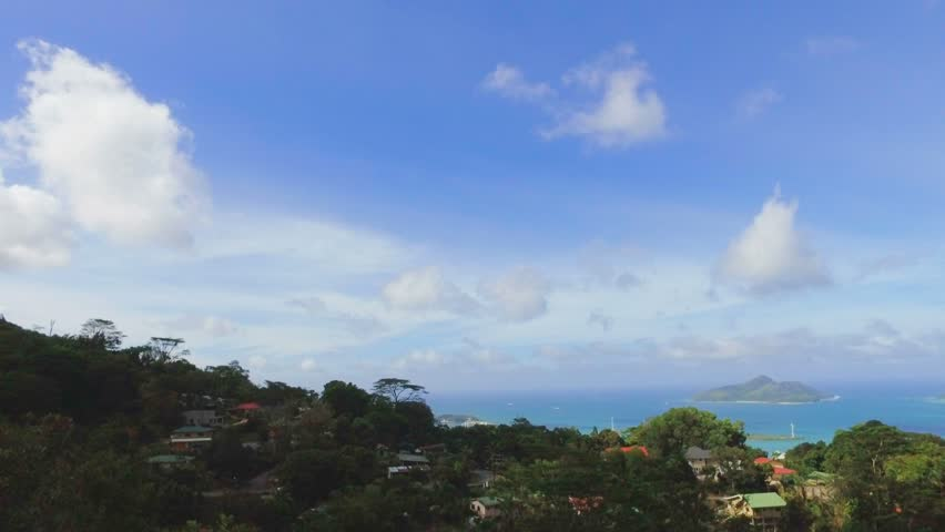 Panorama Of Mahe Island And Eden Island form Sans Souicis Viewpoint, Seychelles