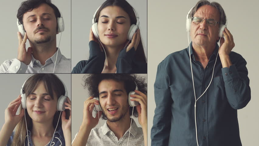 People listening to the music | Shutterstock HD Video #1015755850