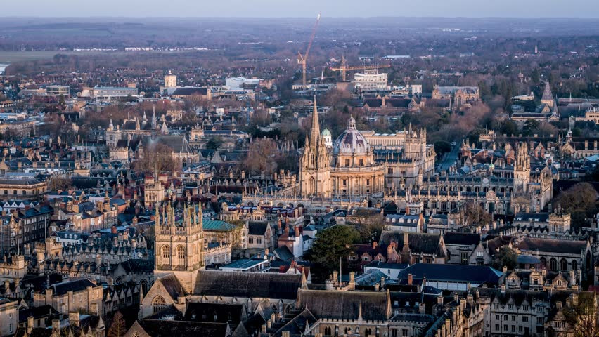 Aerial View of Oxford, United Kingdom | Shutterstock HD Video #1015782280
