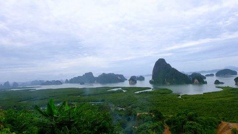 Phang Nga bay from Samet Nangshee viewpoint/Phang Nga/Thailand