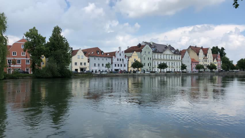 Time lapse from Isar river in Landshut Germany