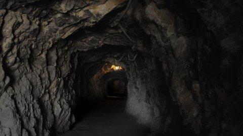 Abandoned mine entrance tunnel
