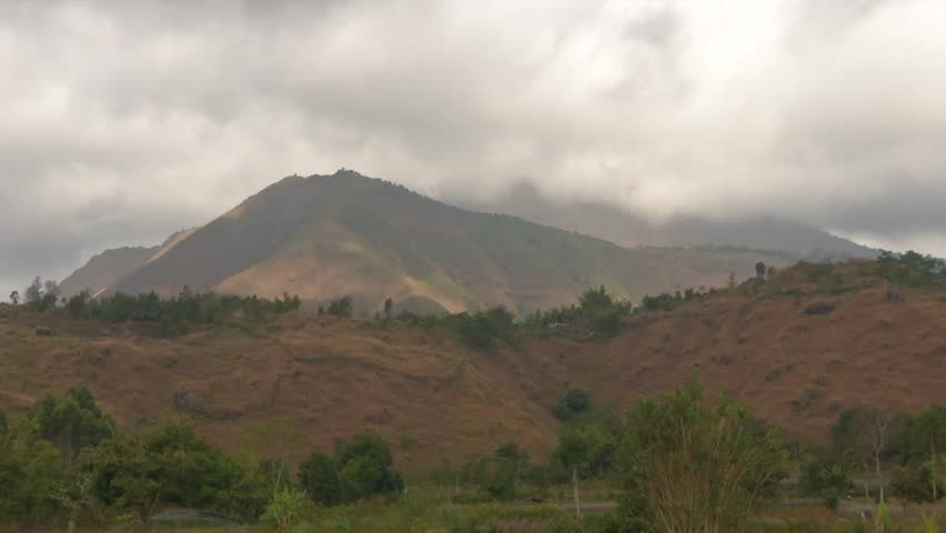 Mountains Topography The height of 600 meters or more from the area around. It looks like a hill. But the hill. It has a high area of ??around 150 but not more than 600 meters. | Shutterstock HD Video #1015920940