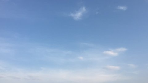 White clouds disappear in the hot sun on blue sky. Loop features time lapse motion clouds backed by a beautiful blue sky. Time-lapse motion clouds blue sky background and sun.