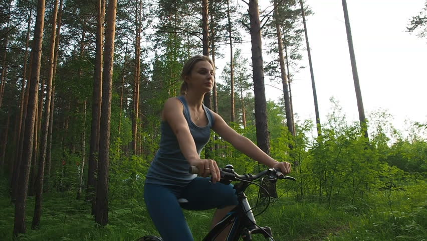 Active Young Woman Riding Bike Stock Footage Video 100 Royalty Free 1016018440 Shutterstock