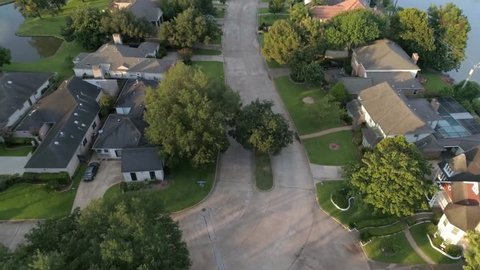 This video is about an aerial view of homes in affluent neighborhood in Houston, Texas. This was filmed in 4k for best image quality.