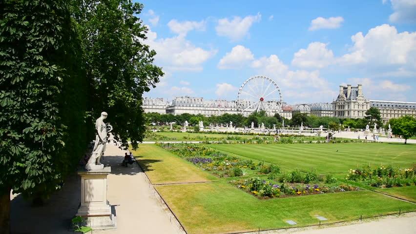 Ferris Wheel In Jardin De Tuileries In Paris France