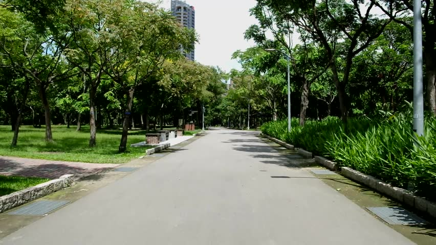 The view of park in the city. Natural scenery in Asia. | Shutterstock HD Video #1016222020
