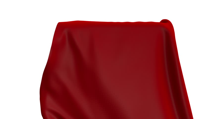 3d render, red curtain uncovering, cloth falling down, unveil, opening, unpacking, animated Christmas wrapping background, alpha channel | Shutterstock HD Video #1016240410