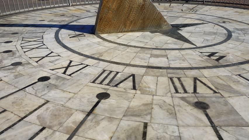 Sundial. Shooting in the summer. | Shutterstock HD Video #1016400010