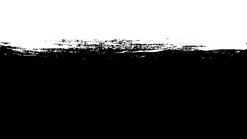 4k Paint Brush Stroke Transition Wipe On And Off/ Animation of a black and white abstract paint brush wipe on and on effect, with ease in for transition background