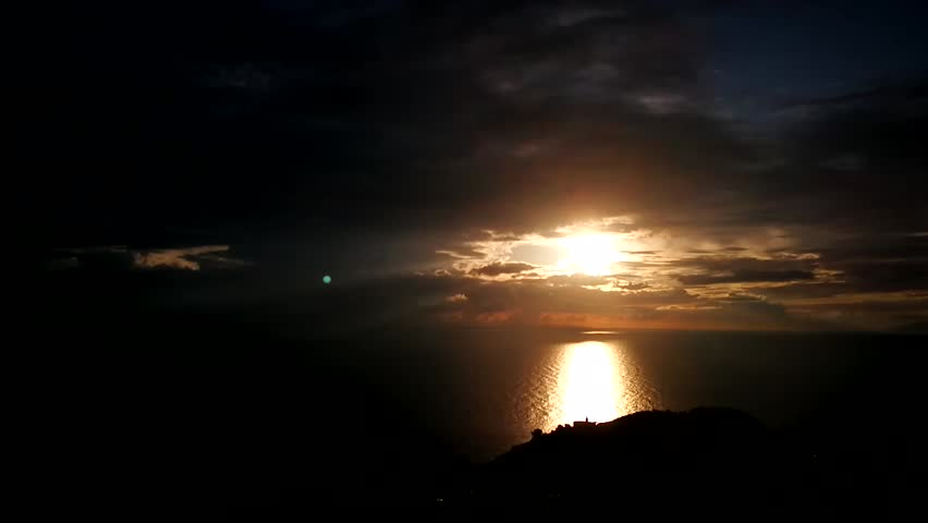 time-lapse of elba sunset