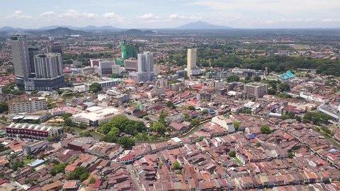 Aerial Shot of Malacca City,Malaysia