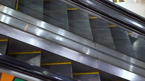 Escalators, Electric Stair, escalators in a public area. Escalators are moving that constantly.