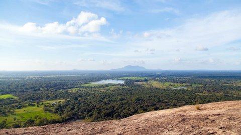 natural landscape Sigiriya, Sri Lanka timelapse